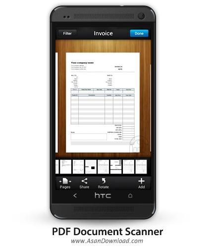 دانلود PDF Document Scanner v2.0.8 - نرم افزار موبایل تبدیل عکس به اسناد پی دی اف