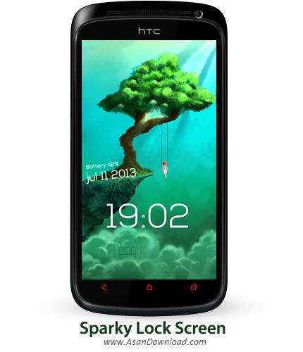 دانلود Sparky Lock Screen v0.90 - پک لاک اسکرین های جدید برای اندروید