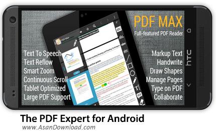 دانلود The PDF Expert for Android - PDF Max v4.0.6 -  نرم افزار موبایل پی دی اف خوان اندروید