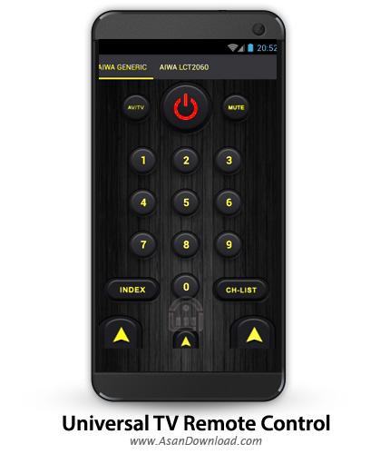 دانلود Universal TV Remote Control PRO v1.0.15 - نرم افزار موبایل تبدیل اندروید به کنترل از راه دور