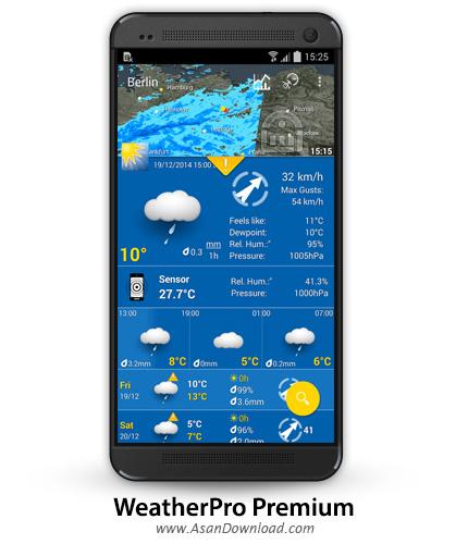 دانلود WeatherPro Premium v4.1.4 - اپلیکیشن موبایل هواشناسی اندروید