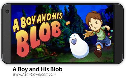 دانلود A Boy and His Blob v1.0 - بازی موبایل پسرک و حباب آسمانی + دیتا