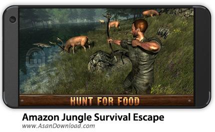 دانلود Amazon Jungle Survival Escape v1.3 - بازی موبایل بقا در جنگل + نسخه بی نهایت