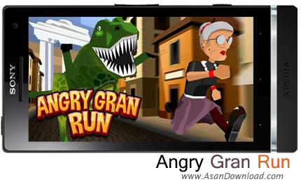 دانلود Angry Gran Run - Running Game v1.17.1 - بازی کمک به مادربزرگ برای عبور از موانع