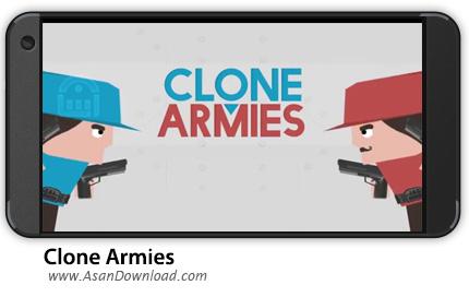 دانلود Clone Armies v3.3.0 - بازی موبایل ارتش سرخ و آبی + نسخه بی نهایت