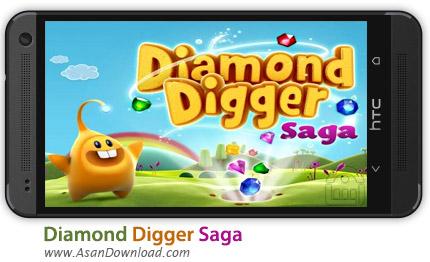 دانلود Diamond Digger Saga v1.1.1 - بازی موبایل در جست و جوی الماس سگا + نسخه بینهایت