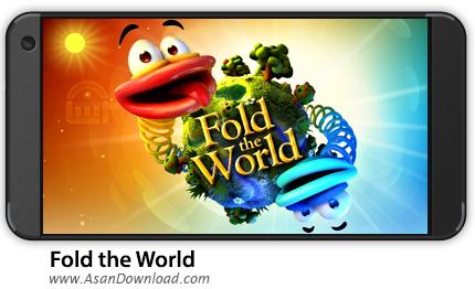 دانلود Fold the World v1.0.8 - بازی موبایل تا کردن جهانی + نسخه بی نهایت