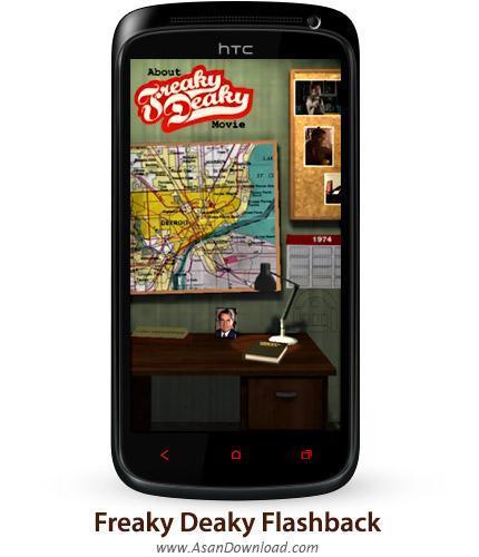 دانلود Freaky Deaky Flashback v1.0 - بازی موبایل حل معماهای جنایی