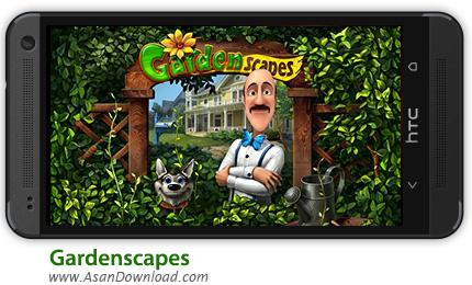دانلود Gardenscapes v1.0.1 - بازی موبایل اشیا پنهان در باغ + دیتا