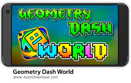 دانلود Geometry Dash World v1.021 - بازی موبایل مکعب کوچولو در دنیای هندسی + نسخه بی نهایت