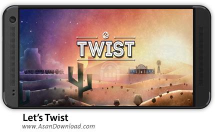 دانلود Let's Twist v1.0 - بازی موبایل سقوط اجسام رنگی + نسخه بینهایت