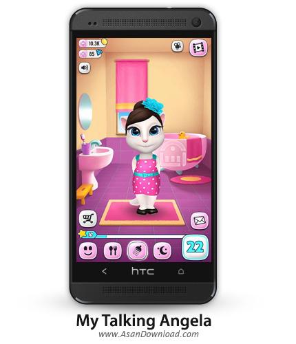 دانلود My Talking Angela v1.2.1 - بازی موبایل نگهداری از آنجلا + دیتا + نسخه بینهایت
