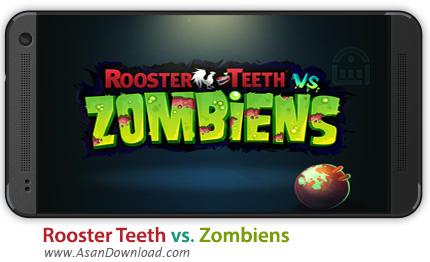دانلود Rooster Teeth vs. Zombiens v1.1.0 - بازی موبایل مبارزه با زامبی ها و خروس + دیتا