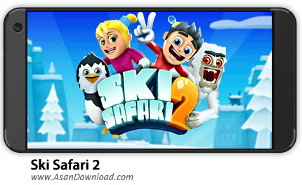 دانلود Ski Safari 2 v1.3.2.1103 - بازی موبایل اسکی سافاری 2 + نسخه بی نهایت