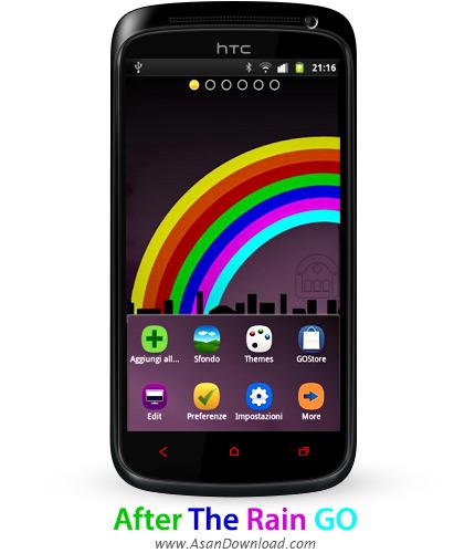 دانلود After The Rain GO v1.2 - پوسته رنگین کمان برای موبایل های اندروید