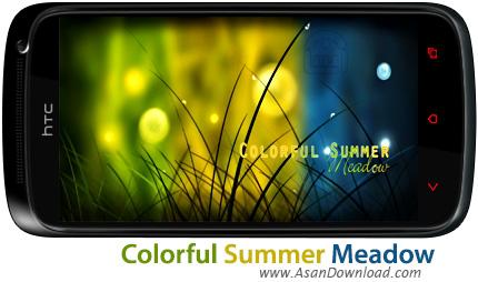 دانلود Colorful Summer Meadow v1.0.3 - لایووالپیپر علفزار برای اندروید