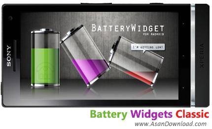 دانلود Battery Widgets Classic v1.6.8 - ویجت نمایش اطلاعات باتری به سبک کلاسیک