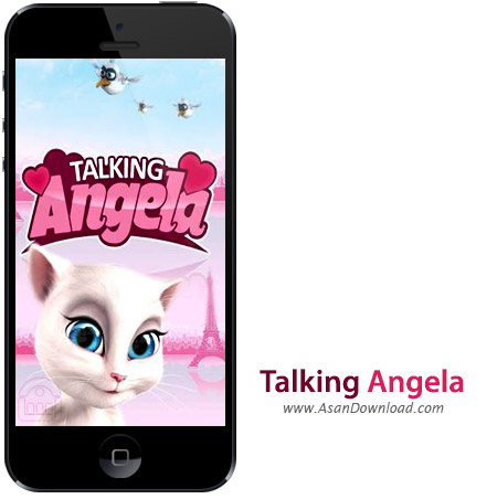 دانلود Talking Angela v2.3 - نرم افزار موبایل گفت و گو با آنجلا