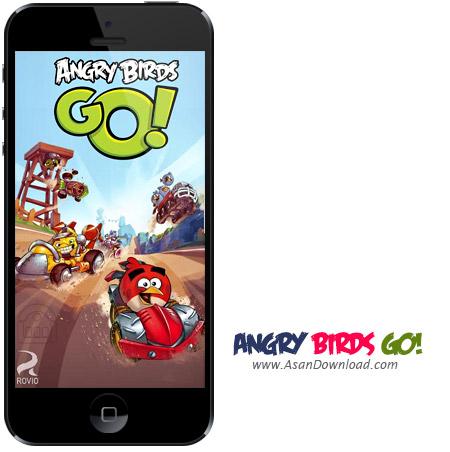 دانلود Angry Birds Go! v1.4.3 apk v1.0.4 ipa - بازی موبایل مسابقات اتومبیل رانی پرندگان خشمگین + دیتا