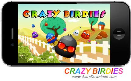 دانلود Crazy Birds v1.4 - بازی موبایل جوجه های بازیگوش