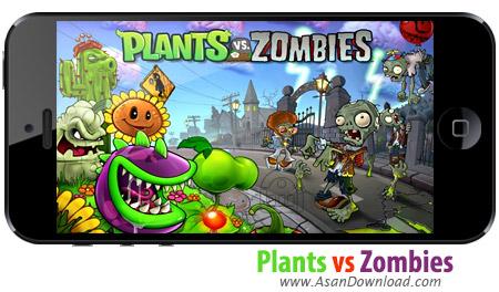 دانلود Plants vs Zombies - بازی موبایل گیاهان علیه زامبی ها بعلاوه گیم دیتای بازی