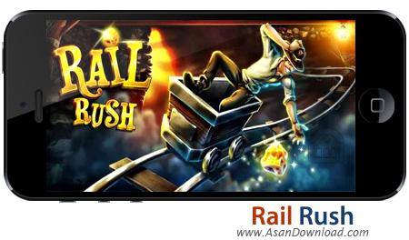 دانلود Rail Rush v1.9.5 apk + v1.3 ipa - بازی موبایل جست و جوی طلا در معادن زیرزمینی