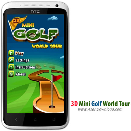 دانلود 3D Mini Golf World Tour - بازی موبایل تور جهانی مینی گلف