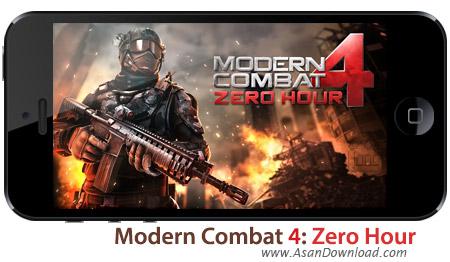 دانلود Modern Combat 4: Zero Hour - بازی موبایل مبارزات مدرن بعلاوه دیتا