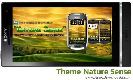 دانلود Theme Nature Sense v1.0 - لایووالپیپر طبیعت برای سیمبیان