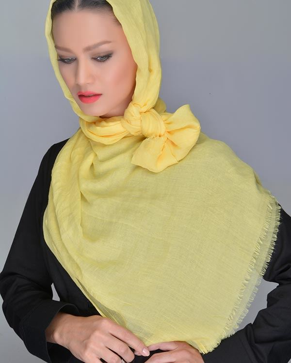 عکس روسری تک رنگ شال نخی کد 993 خوش رنگ، خنک، سبک!