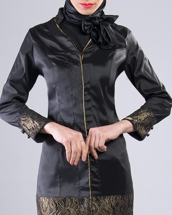 مانتو طرح 1227 زیبا با پوششی مناسب و رسمی برای مراسمها