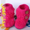 مدل کفش ها و جوراب های بافتنی بچه گانه 2014 - قسمت دوم