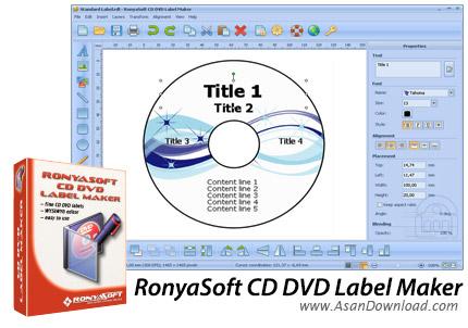 دانلود RonyaSoft CD DVD Label Maker v3.2.14 - نرم افزار طراحی و ساخت لیبل و کاور