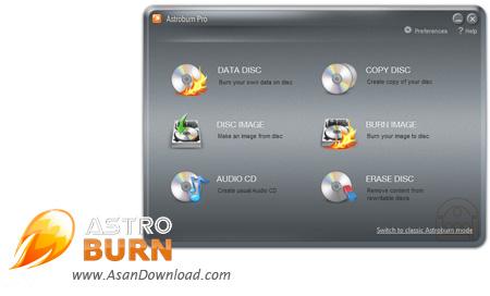 دانلود Astroburn Pro v4.0.0.0233 - نرم افزار ساده رایت لوح های فشرده