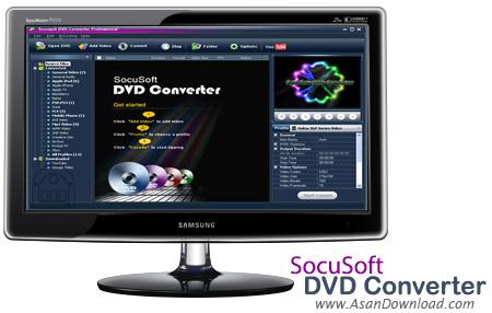 دانلود Socusoft DVD Converter Pro v3.9.7 - نرم افزار تبدیل انواع فایل های دی وی دی
