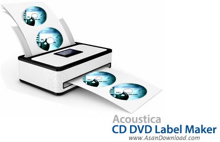 نرم افزار طراحی لوگو و آرم سی دی ها... دانلود Acoustica CD DVD Label Maker v3.32 - نرم افزار طراحی لیبل برای لوح