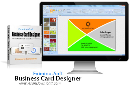 دانلود EximiousSoft Business Card Designer v5.10 + Pro v3.01 - نرم افزار طراحی کارت ویزیت