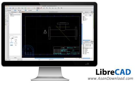 دانلود LibreCAD v2.1.3 - نرم افزار طراحی CAD