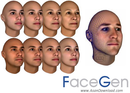 دانلود FaceGen Modeler v3.5.3 - نرم افزار طراحی و چهره نگاری افراد