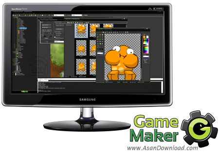 دانلود Game Maker v8.1.139 - نرم افزار ساخت بازی های 2 بعدی و 3 بعدی