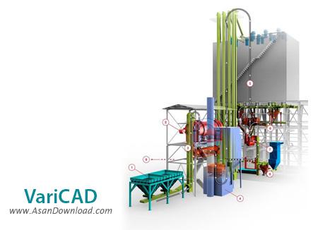 دانلود VariCAD 2015 v2.02 - نرم افزار طراحی دو بعدی و سه بعدی مکانیکی