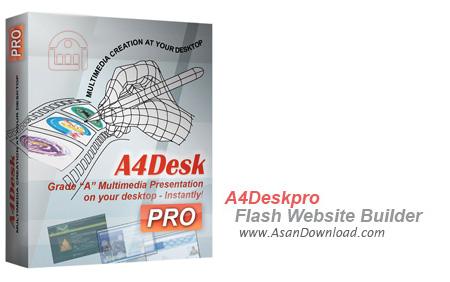 دانلود A4DeskPro Flash Website Builder v5.80 - نرم افزار طراحی سایت های فلش