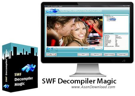 دانلود SWF Decompiler Magic v5.2.2.20 - نرم افزار استخراج محتویات فایل های فلش