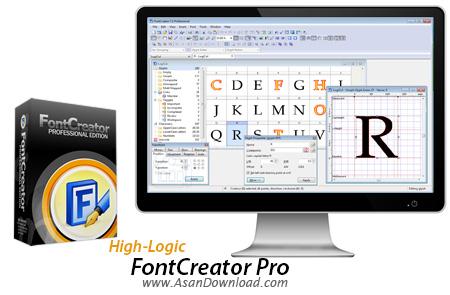 دانلود High-Logic FontCreator Pro v7.5.0.517 - نرم افزار ساخت و ویرایش فونت