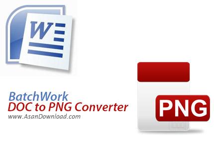 دانلود BatchWork DOC to PNG Converter v2015.7.405.1857 - نرم افزار تبدیل اسناد به عکس