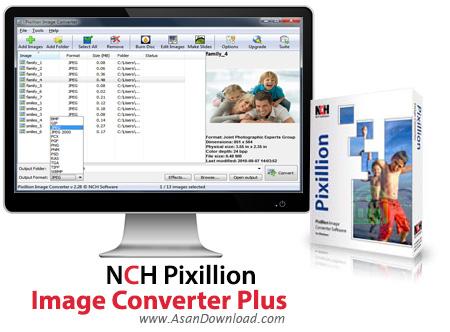 دانلود NCH Pixillion Image Converter Plus v3.08 - مبدل فرمت تصاویر