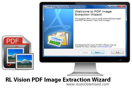دانلود RL Vision PDF Image Extraction Wizard v6.22 - نرم افزار استخراج عکس از پی دی اف