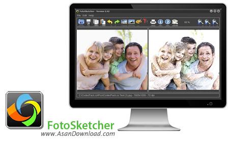 دانلود FotoSketcher v2.75 - نرم افزار تبدیل عکس ها به طرح های نقاشی