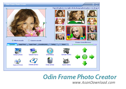 دانلود Odin Frame Photo Creator v9.8.4 - نرم افزار ساخت قاب عکس