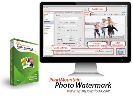 دانلود PearlMountain Photo Watermark v1.0.1 - نرم افزار قراردادن آرم روی تصاویر